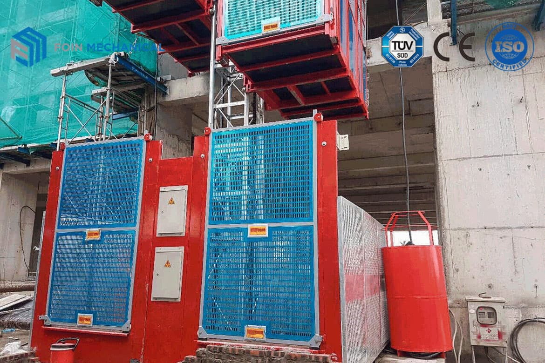Construction Elevator Running on Job Site