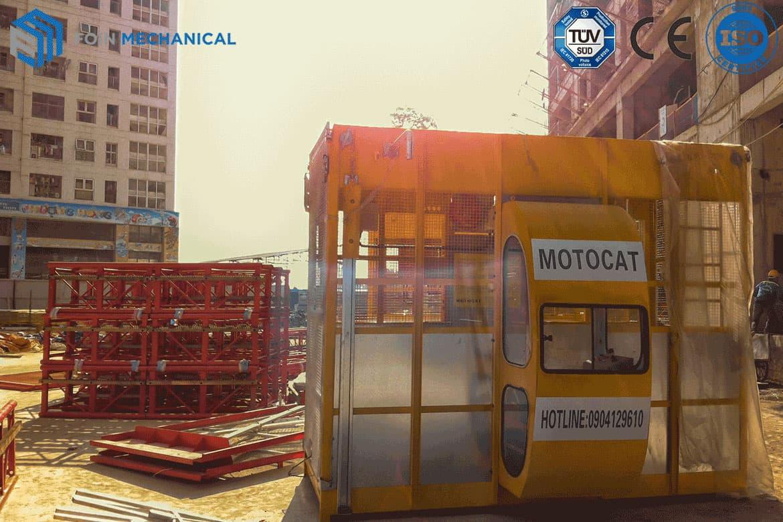 Construction Elevator on Job Site VN