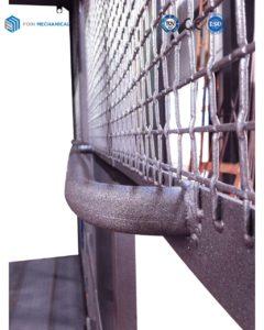 Hoist Cage Sandblasting