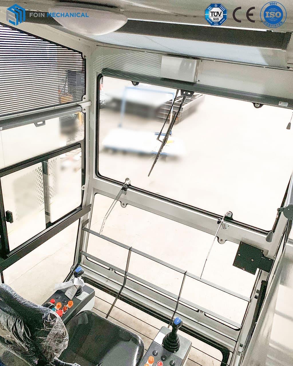 Interior of Tower Cranes Cab