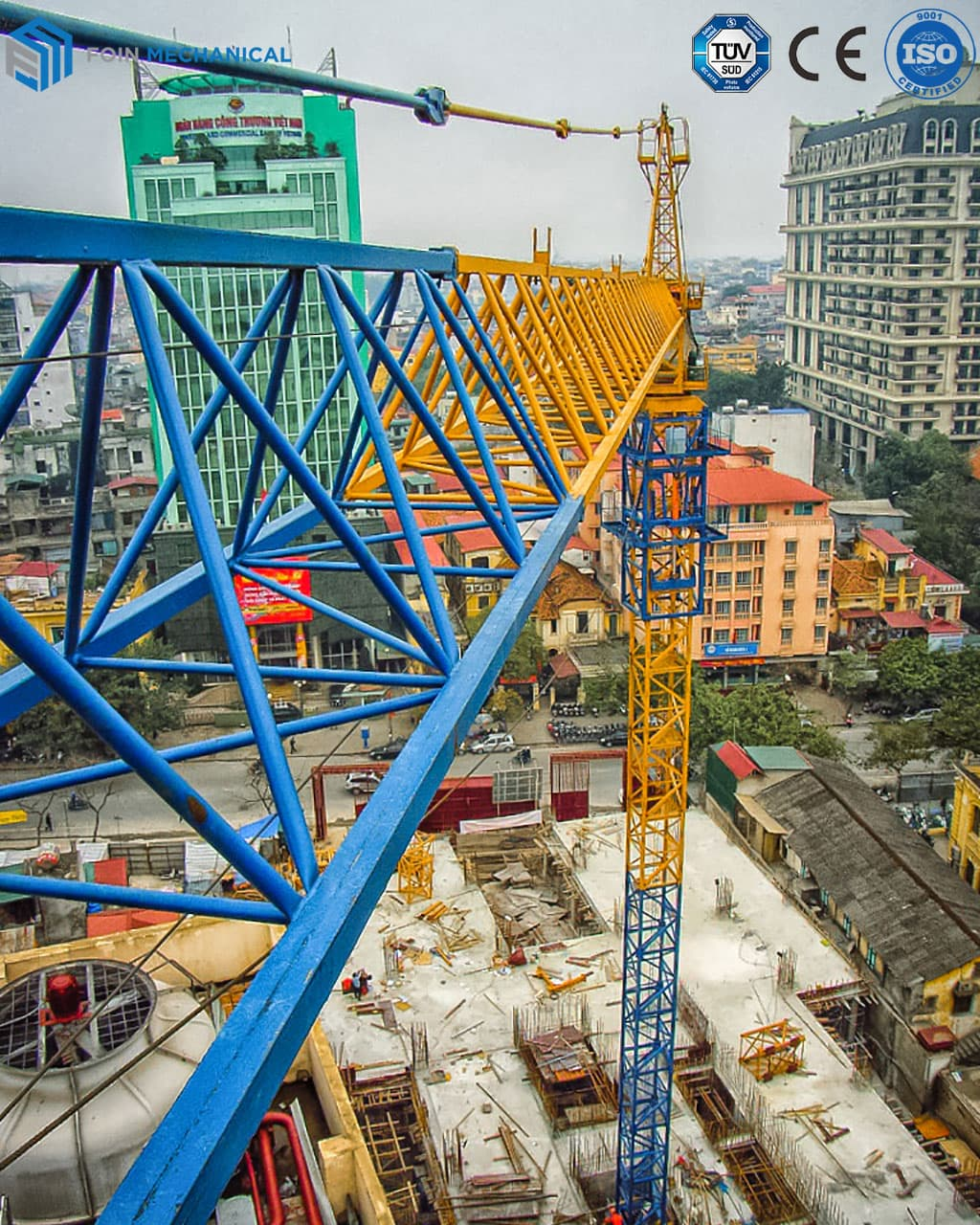 Internal climbing topkit tower crane 5513-6T