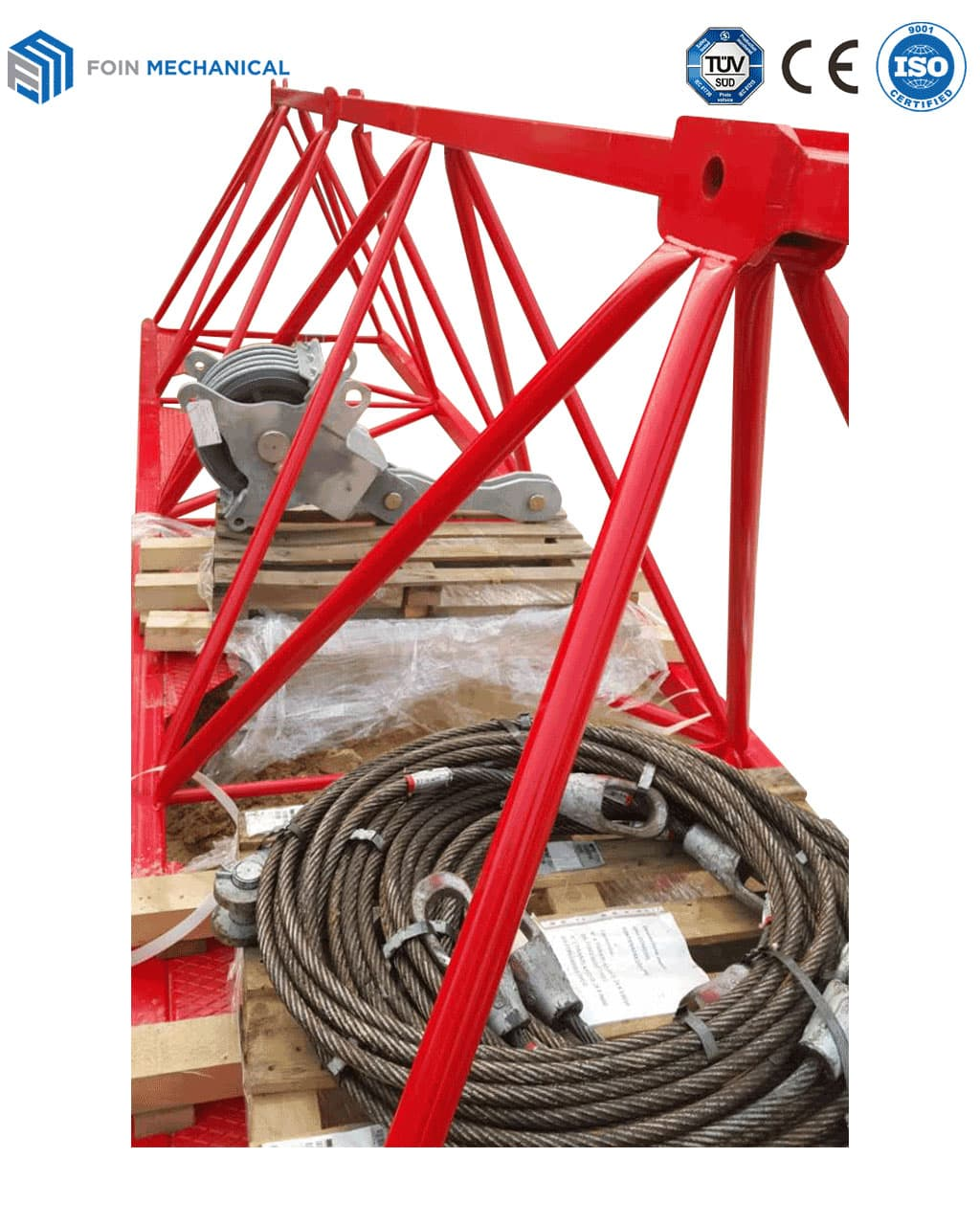 Pulley Block With Crane Boom