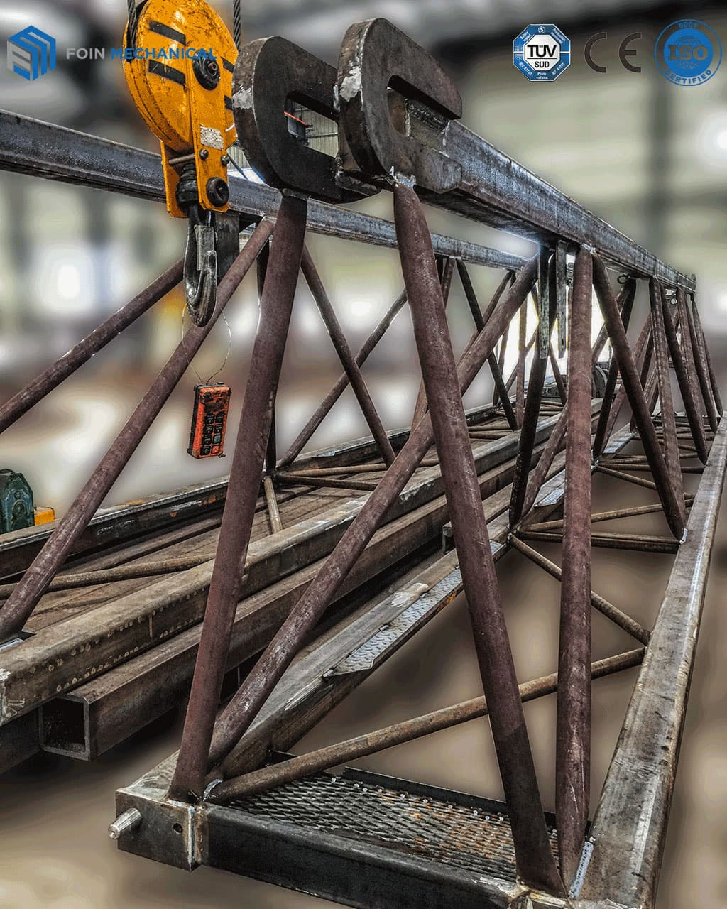 Foin tower crane Semi-finished Welded Tower Cranes Boom Structure