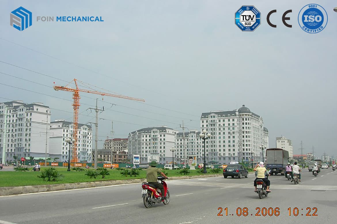 The first project of Foin tower crane