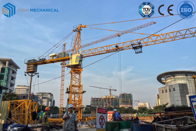 Topkit tower crane 6015-8T Stationary type in Hanoi Vietnam