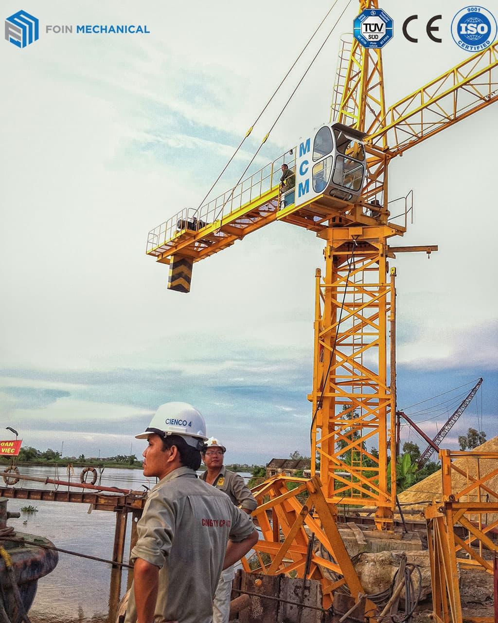 FOIN Topkit tower crane 6515-10T