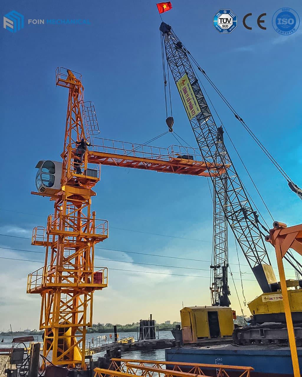 FOIN Topkit tower crane assembly