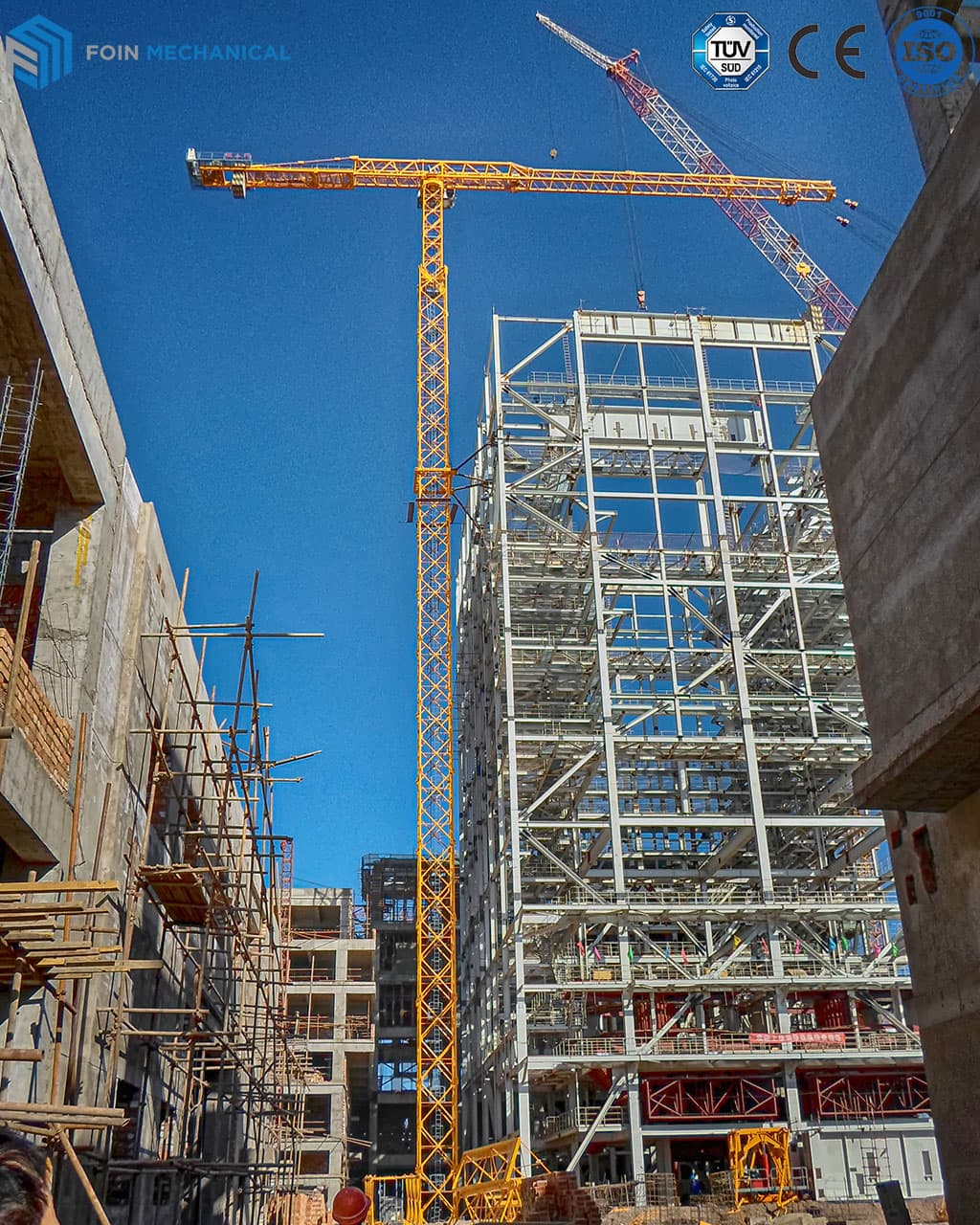 Topless tower crane TL8522 25T in UAE