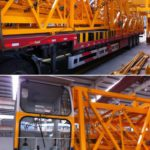 Loading and Delivering of foin tower crane