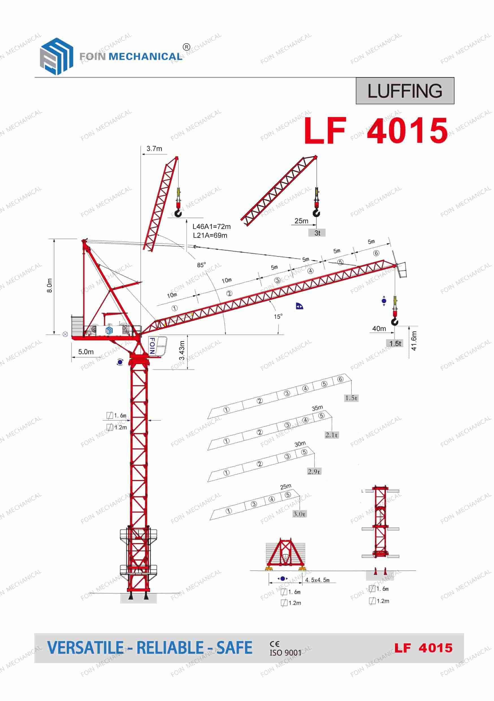 FOIN Luffing Tower Crane LF4015