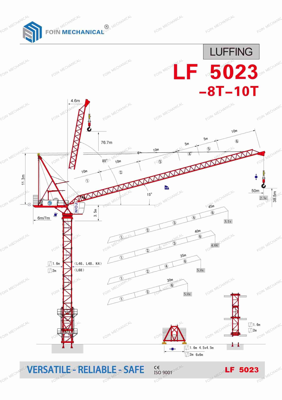 FOIN Luffing Tower Crane LF5023