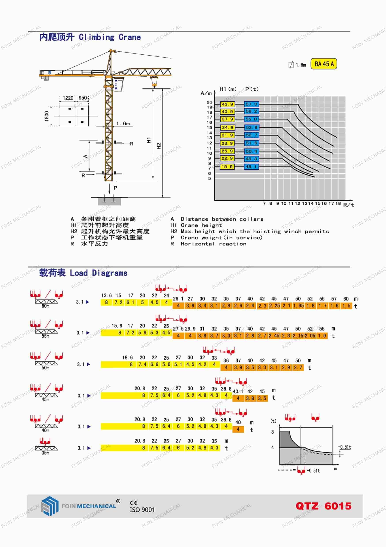 FOIN Topkit/ Hammerhead Tower Crane TK6015-3