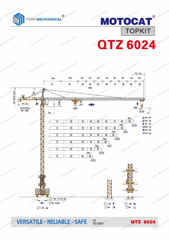 FOIN Topkit/ Hammerhead Tower Crane TK6024
