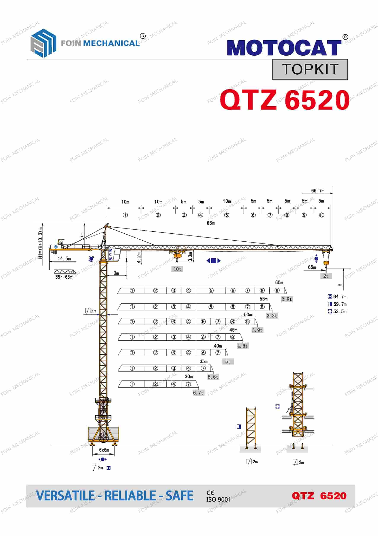 FOIN Topkit/ Hammerhead Tower Crane TK6520